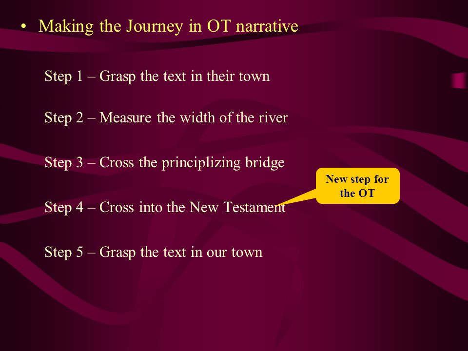 Making the Journey in OT narrative