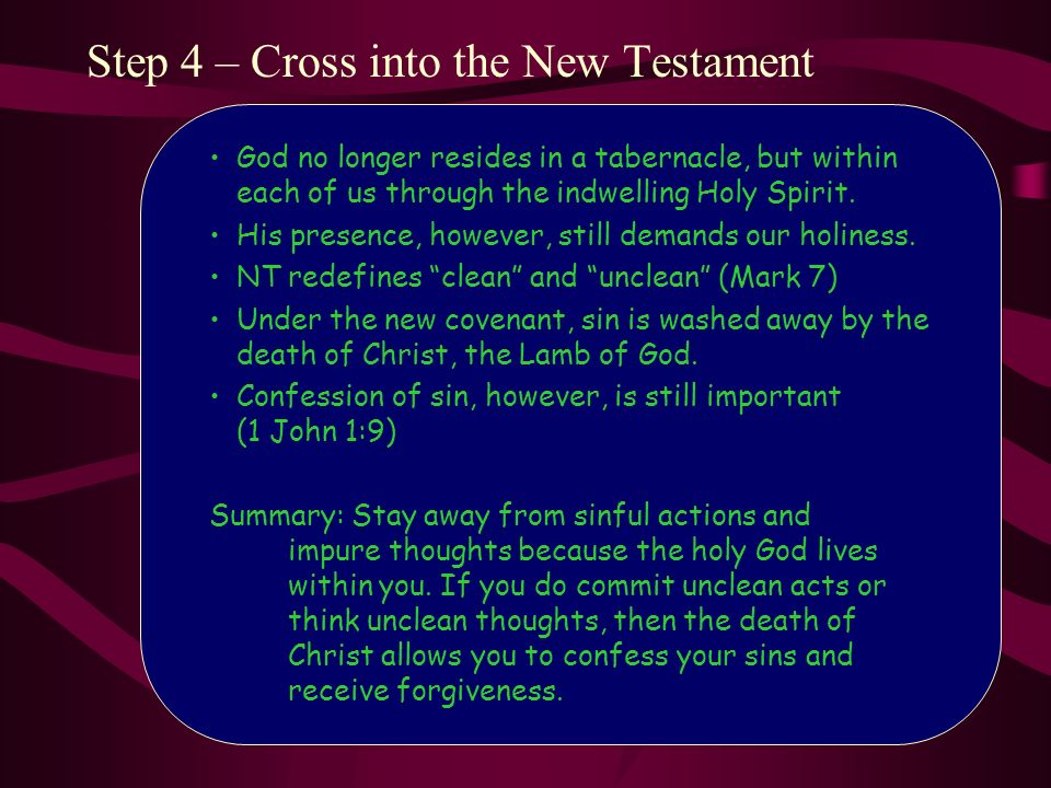 Step 4 – Cross into the New Testament