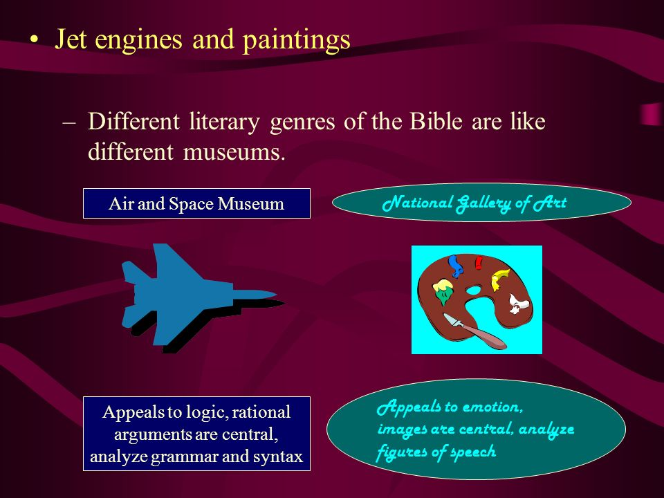 Jet engines and paintings