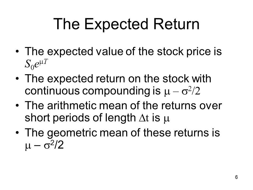 Valuing stock options the black scholes model
