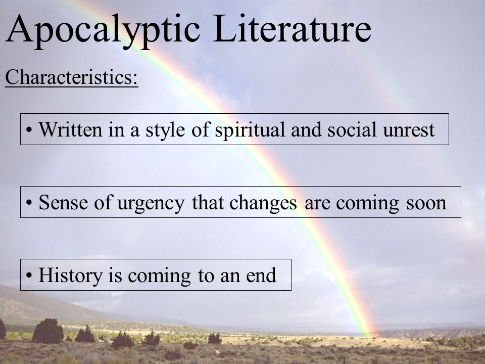 apocalyptic writing Apocrypha please help support  jewish apocalyptic writing is an attempt to supply the place of prophecy, which had been dead for centuries,.