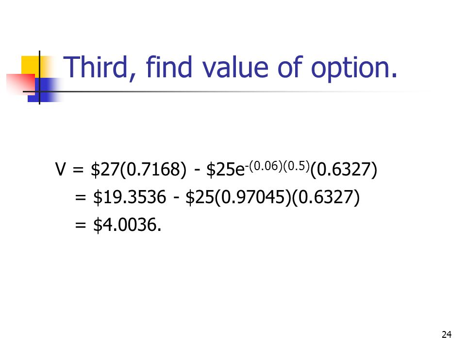 how to find time value of option