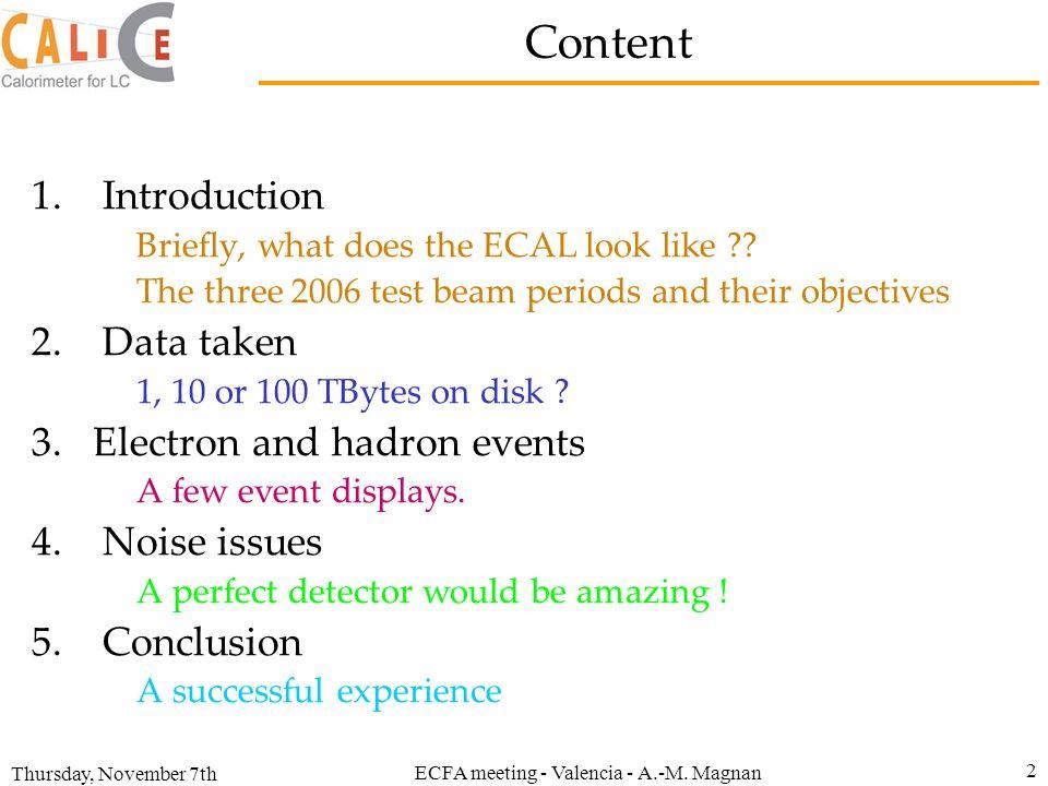ECFA meeting - Valencia - A.-M. Magnan