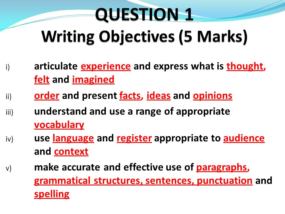extended essay objectives