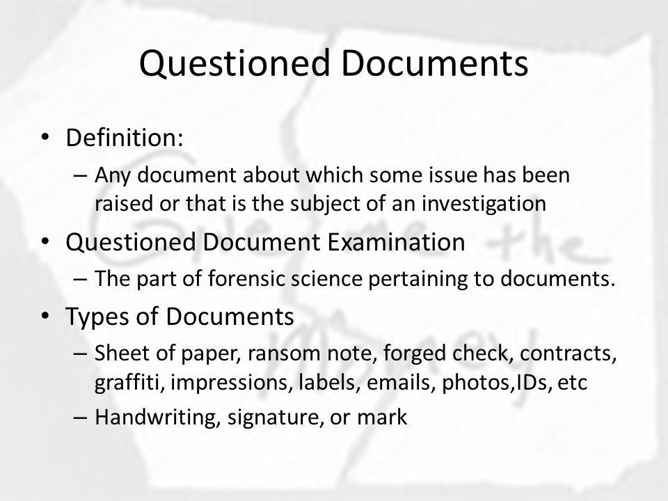 Questioned documents ppt download for Questioned documents forensic science