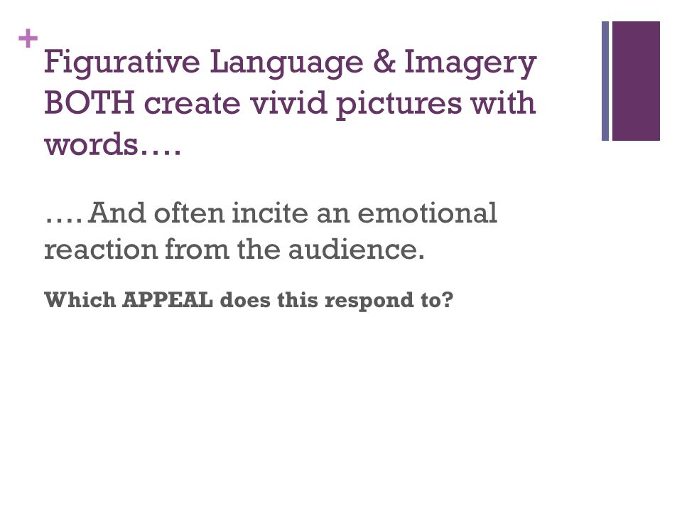 Figurative Language & Imagery BOTH create vivid pictures with words….