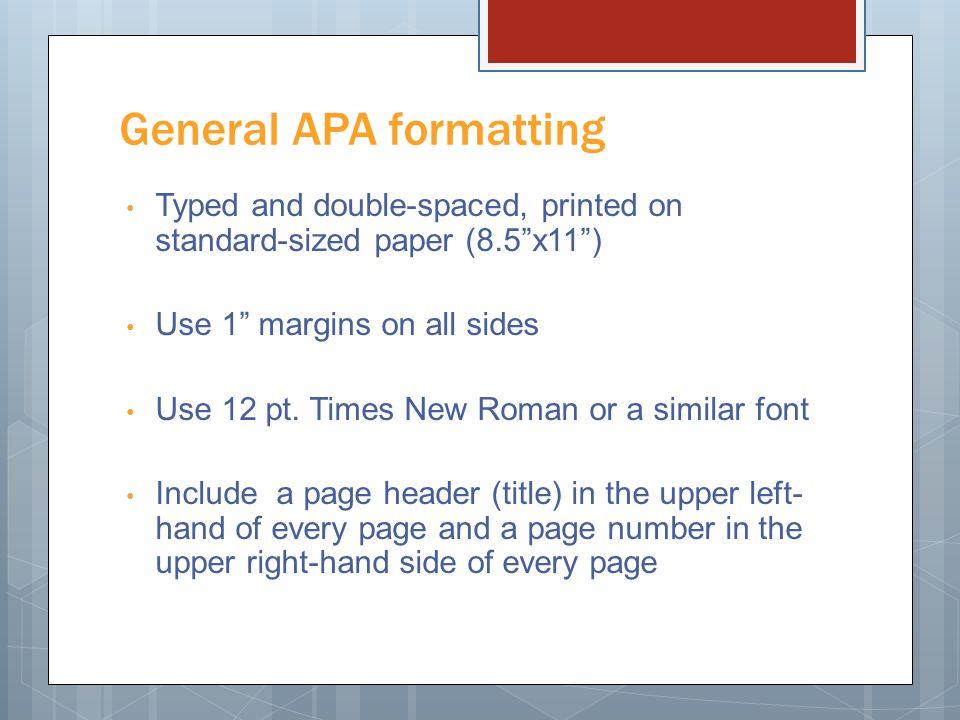 apa format margin size