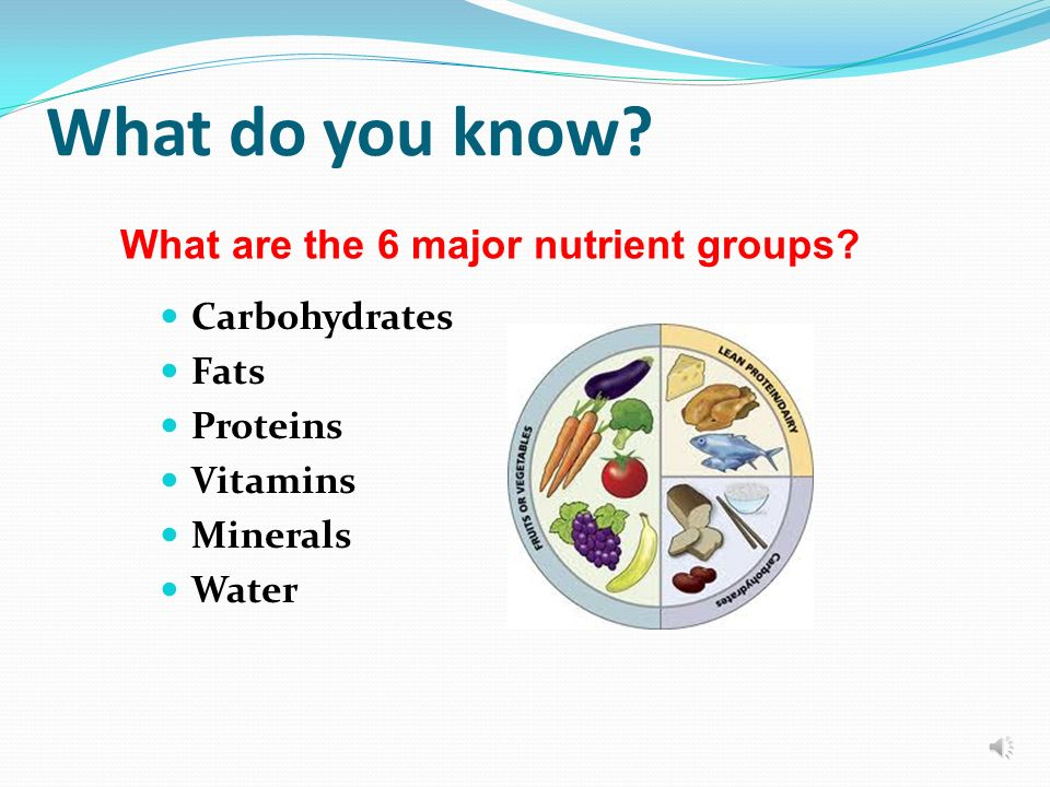 Essential Nutrients Grade 7 Health Ms. Kay The Importance of ...