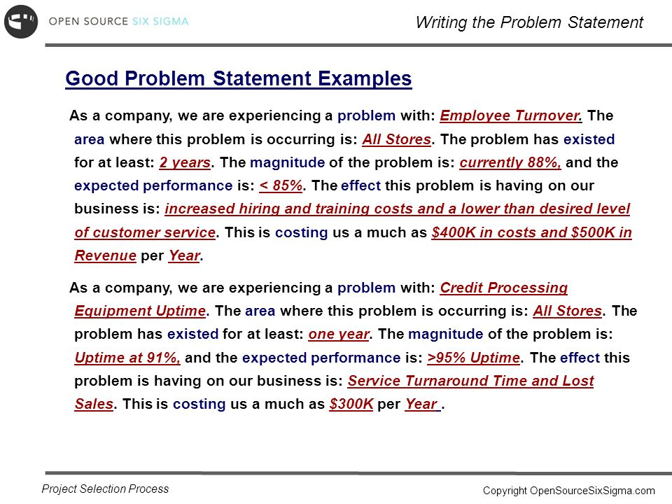Fantastic Project Problem Statement Template Photos  Example Resume
