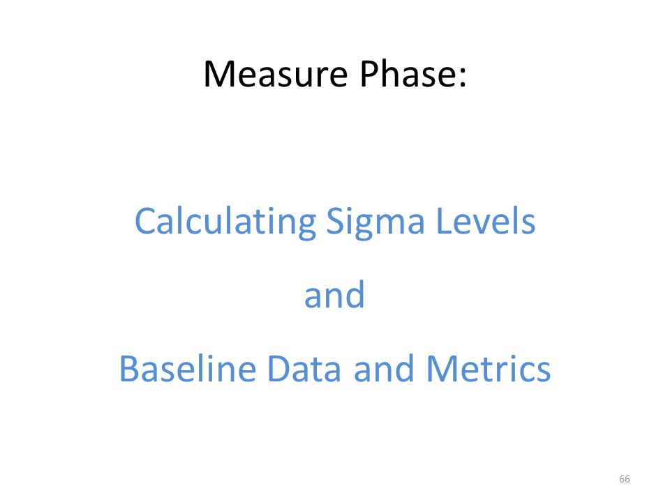 six sigma measure phase pdf