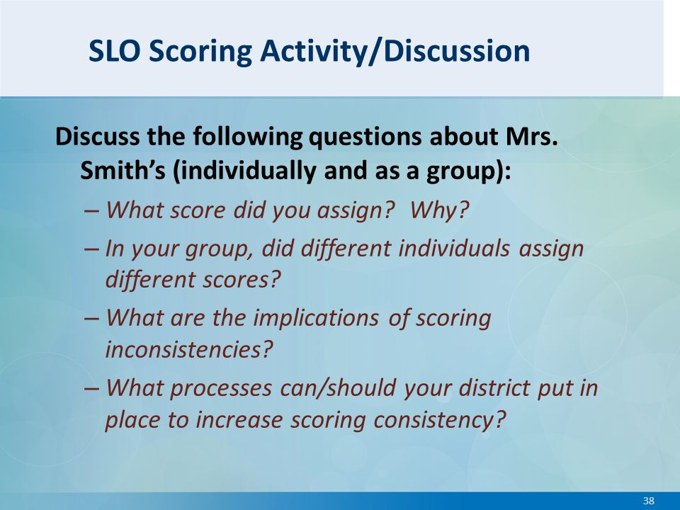 slo scoring template - domain 1 planning and preparation ppt download
