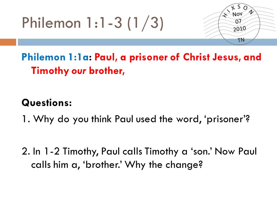 paul and philemon relationship