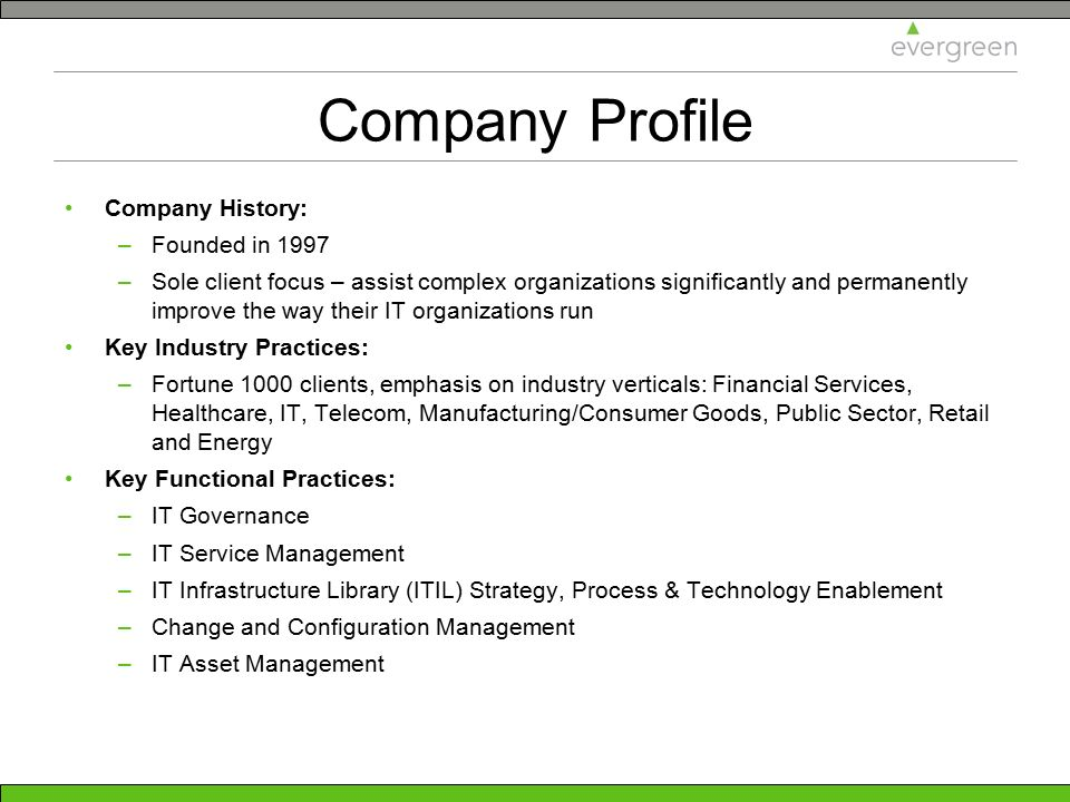 Company Profile Company History: Founded in 1997