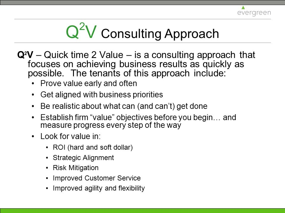 Q2V Consulting Approach