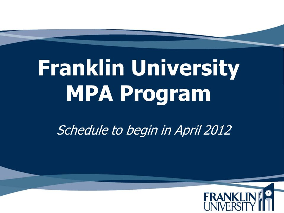 Franklin University MPA Program