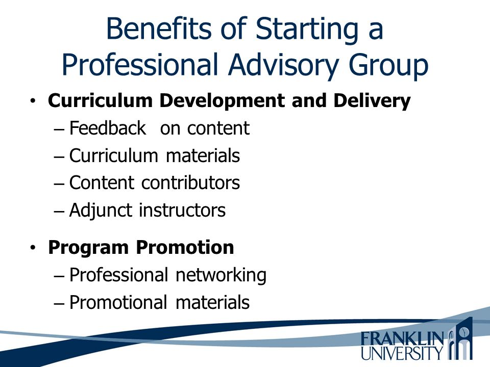 Benefits of Starting a Professional Advisory Group