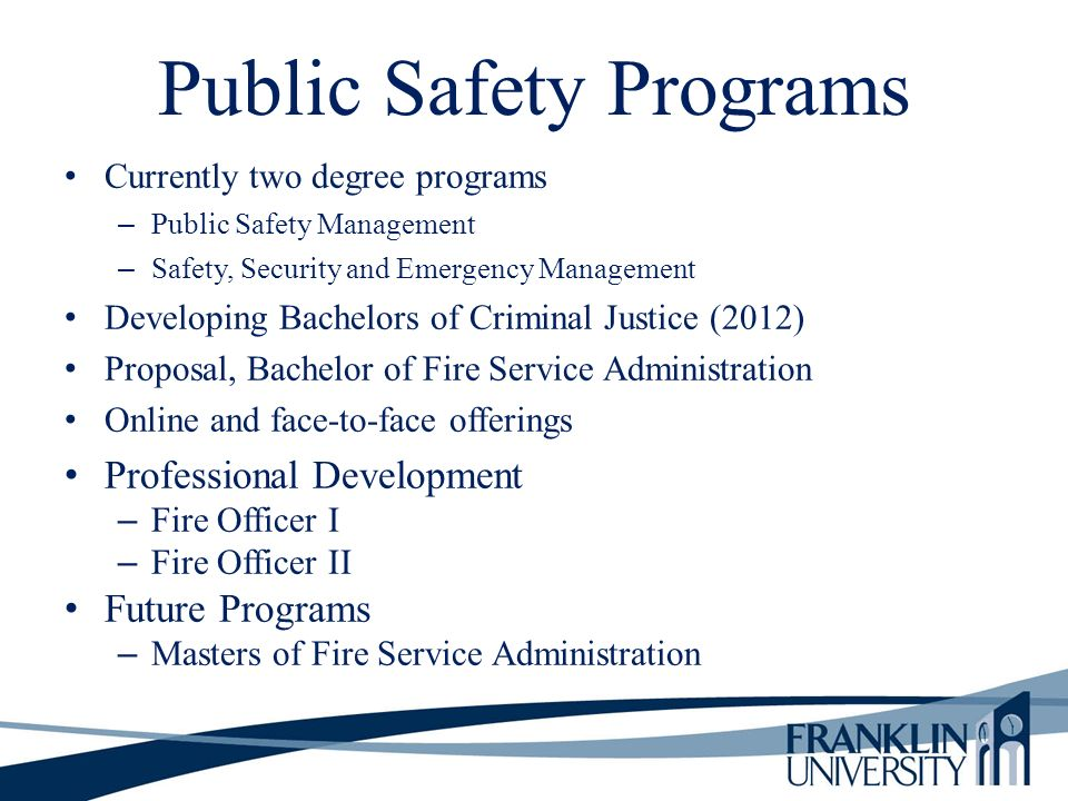 Public Safety Programs