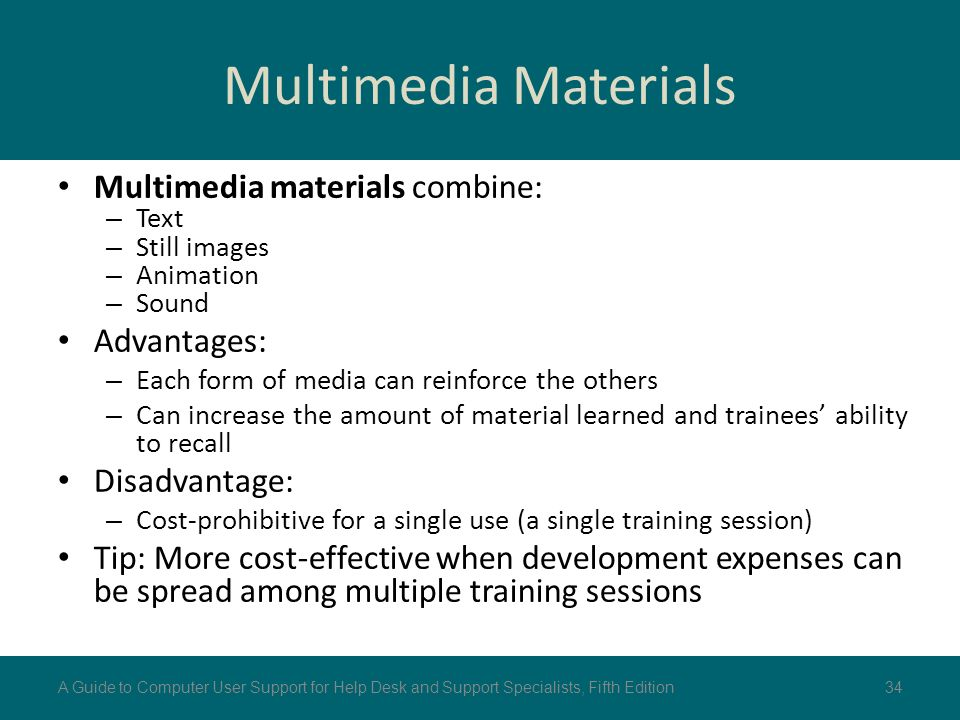 Benefits of Multimedia in eLearning