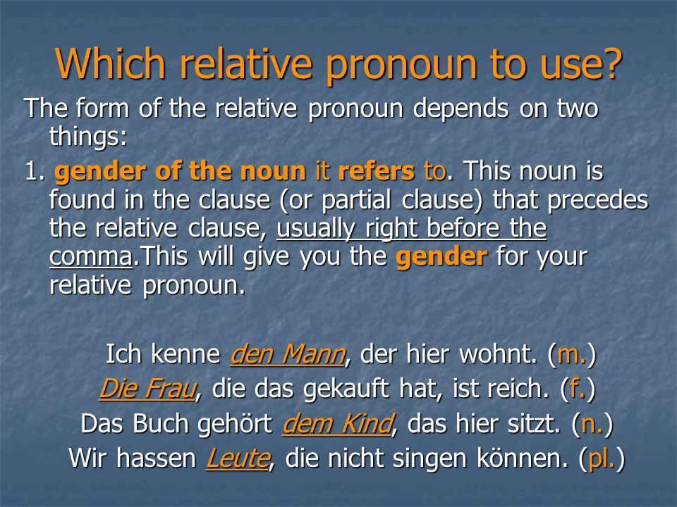 Which relative pronoun to use