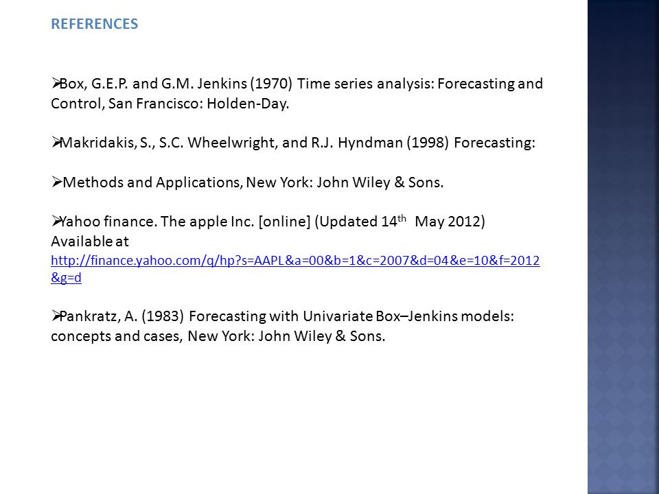 time series analysis forecasting and control pdf