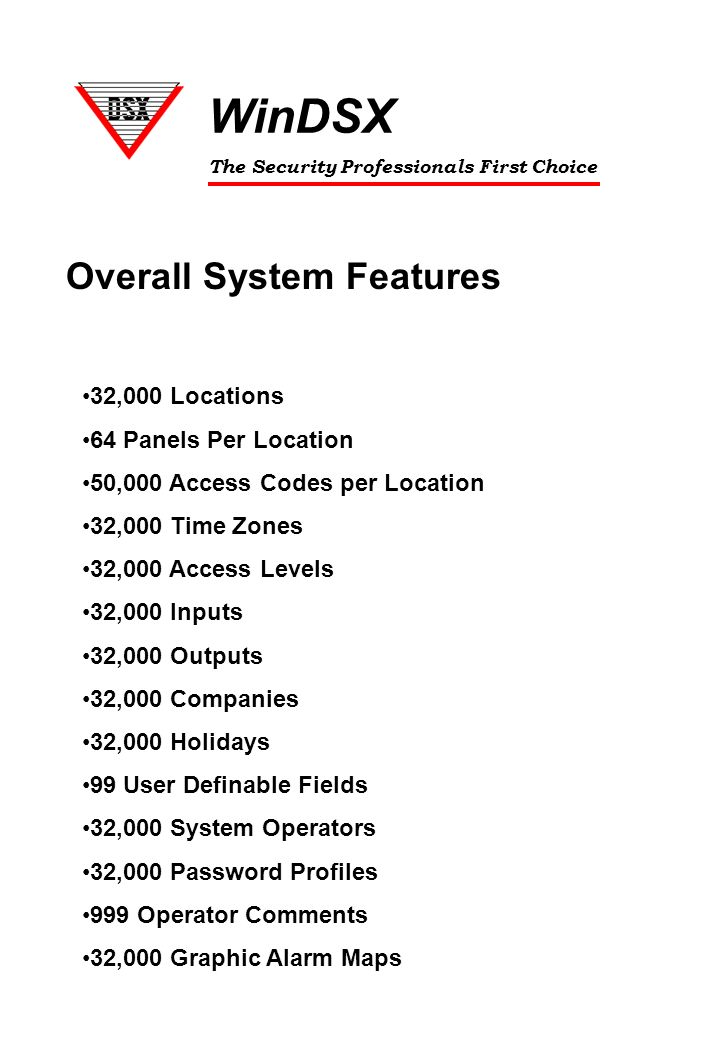 WinDSX+Overall+System+Features+32%2C000+Locations+64+Panels+Per+Location introduction to dsx windsx dss (dallas security systems) ppt dsx panel wiring diagram at reclaimingppi.co