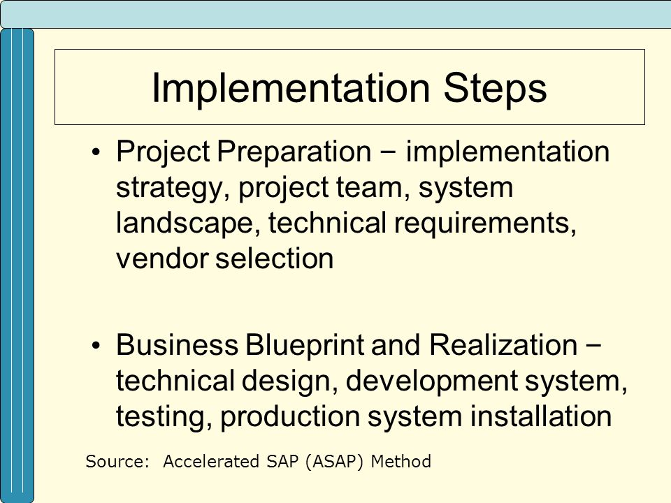Erp and technology bdt lecture style format sample ppt video 35 implementation malvernweather Images