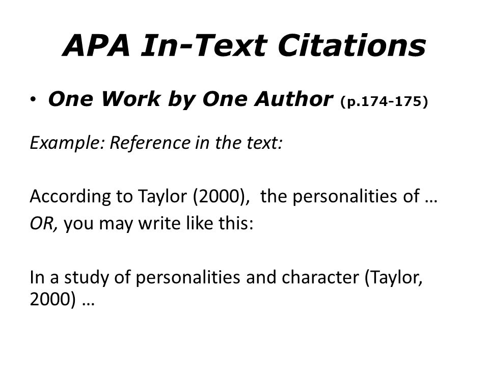 Apa in text citation for thesis