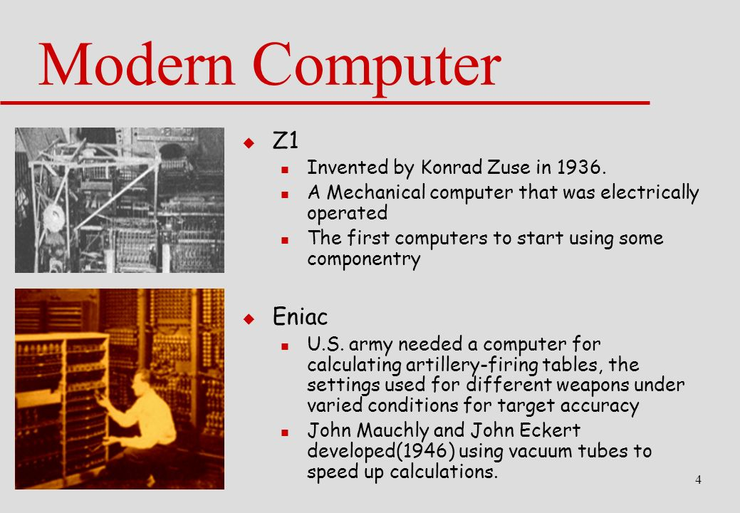 a history of modern computing and computer science The history of computer engineering and further development of high-speed automatic digital computing of computer science.