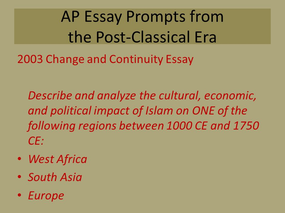 cultural and political changes and continuities in rome essay Ancient rome cultural and political changes and continuities keyword essays and term papers available at echeatcom, the largest free essay community.