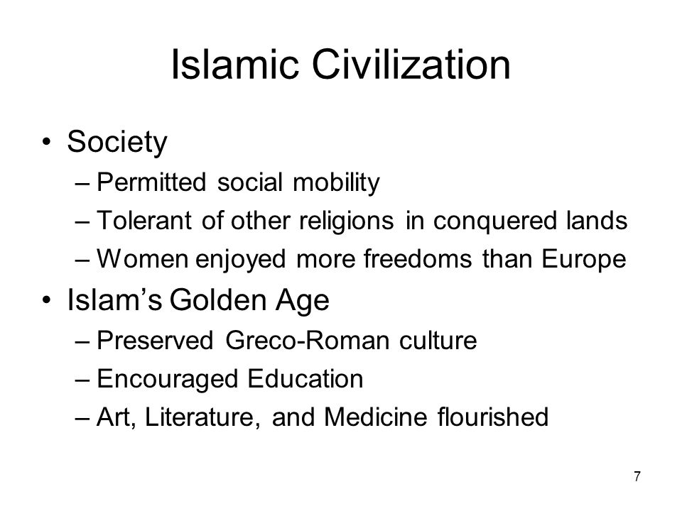 Islamic Civilization Society Islam's Golden Age