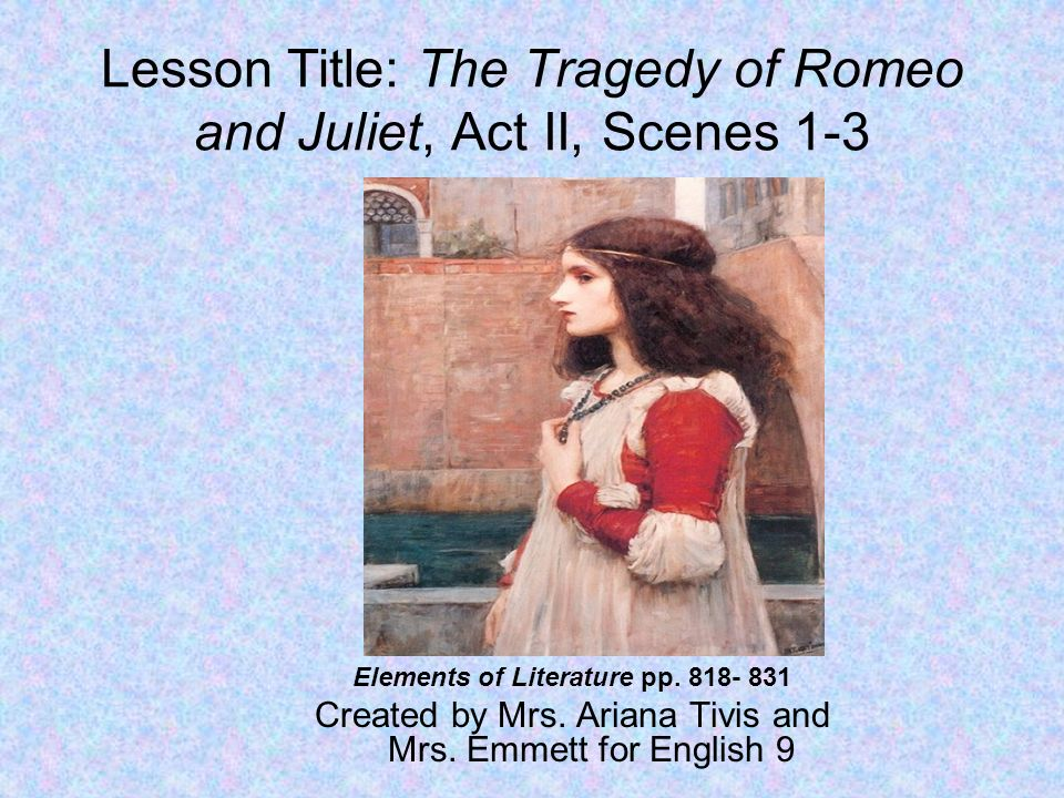 the lesson of romeo and juliet