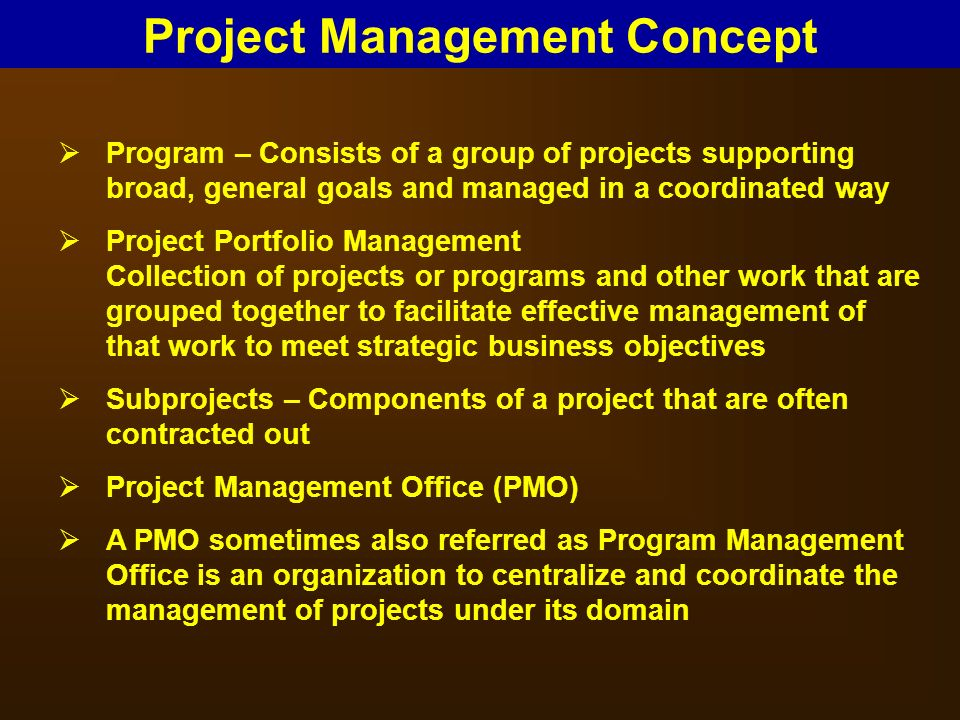 Project management concepts ppt download - Project management office objectives ...