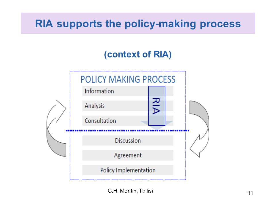 RIA supports the policy-making process