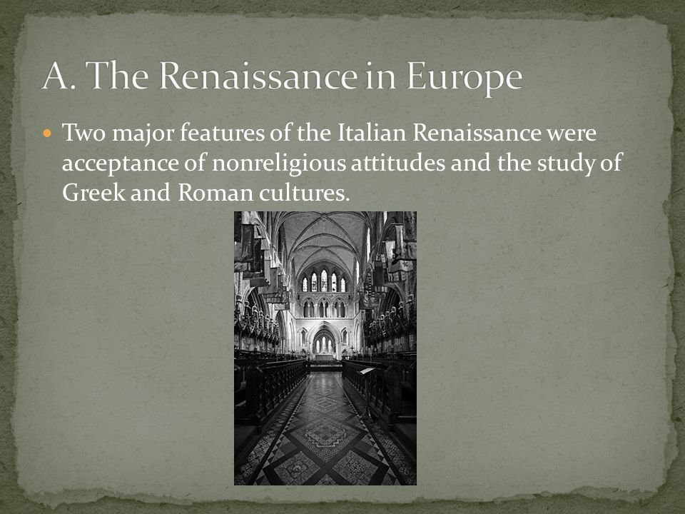 an analysis of renaissance in italy and europe Visual analysis and renaissance art  s mars and venus united by love—are indicative of the new attention to detail which was taking place across italy and europe .