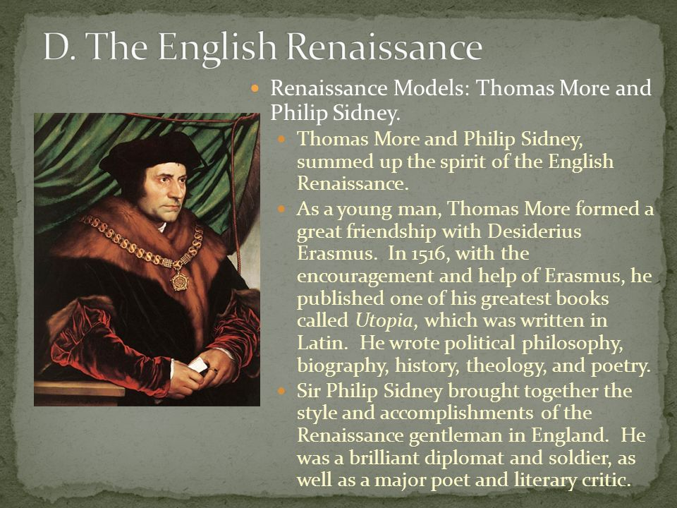 influence of italy on the english renaissance Many translated example sentences containing influence de la renaissance – english-french dictionary and search engine for english translations.