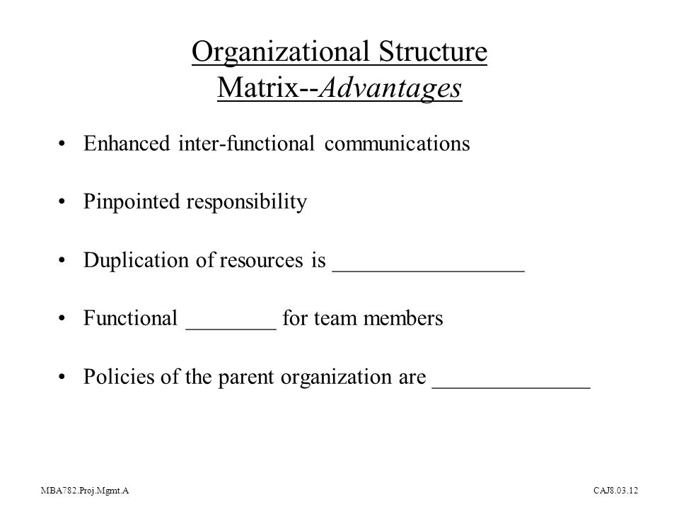 advantages and disadvantage funtonal matrix and Kevan hall, ceo of global integration, reviews the potential disadvantages of a matrix organization and how to manage them.