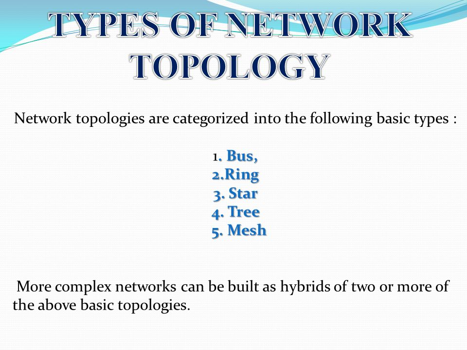introduction to network types The types of network cables employed in any network infrastructure is one of the most important aspects of networking, and it has become increasingly critical with the introduction of newer technologies, such as blade servers, virtualization, network storage devices, wireless access points and more.