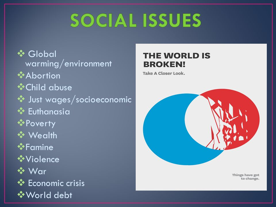 global and social issues The global middle class chapter 2 religion and social issues across countries and regions, the middle class is more likely to embrace more secular and more tolerant.