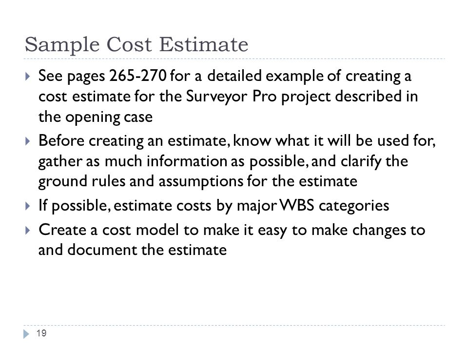 Project cost management ppt video online download for Free cost estimator