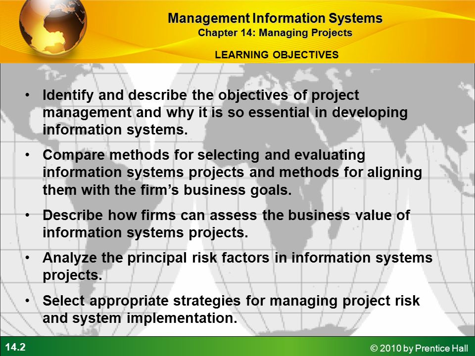 Objectives of Management Information Systems