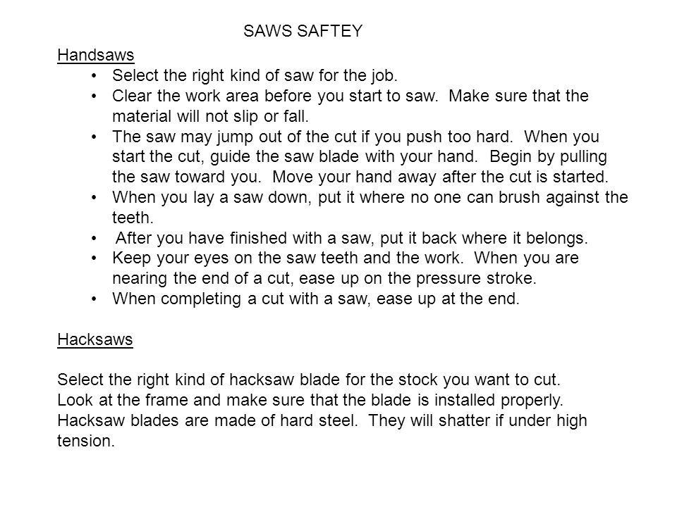 General shop safety rules ppt download 6 saws greentooth