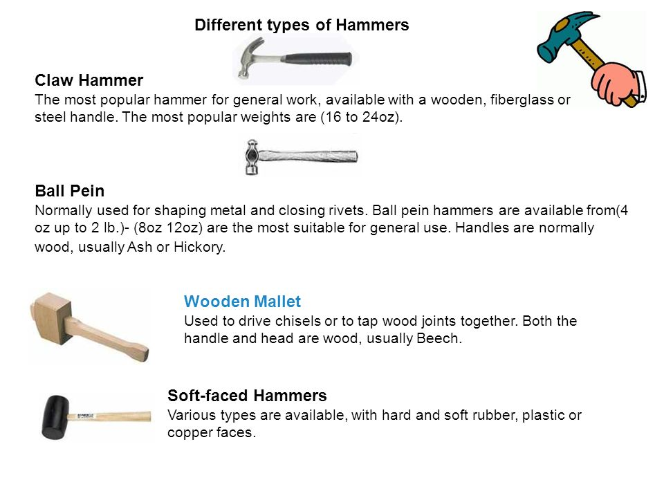 What Are The Diffe Types Of Hammers - 1000 Hammer Ideas