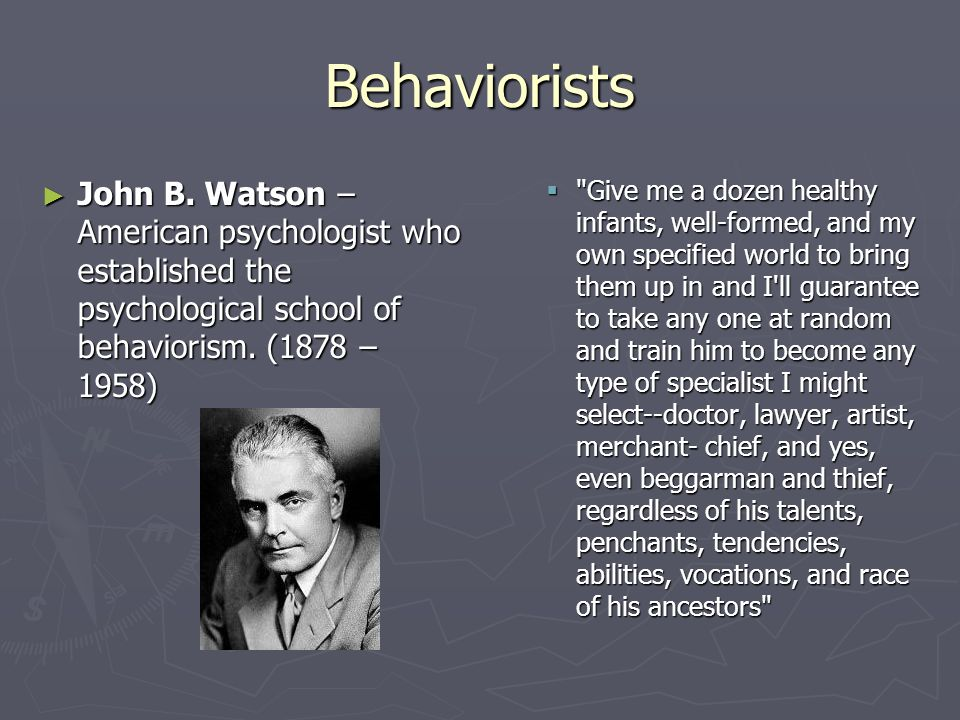 john b watson brochure Behaviorism paper week 3 lt for team leanring (1) - john b watson and ivan pavolv brochure university of.