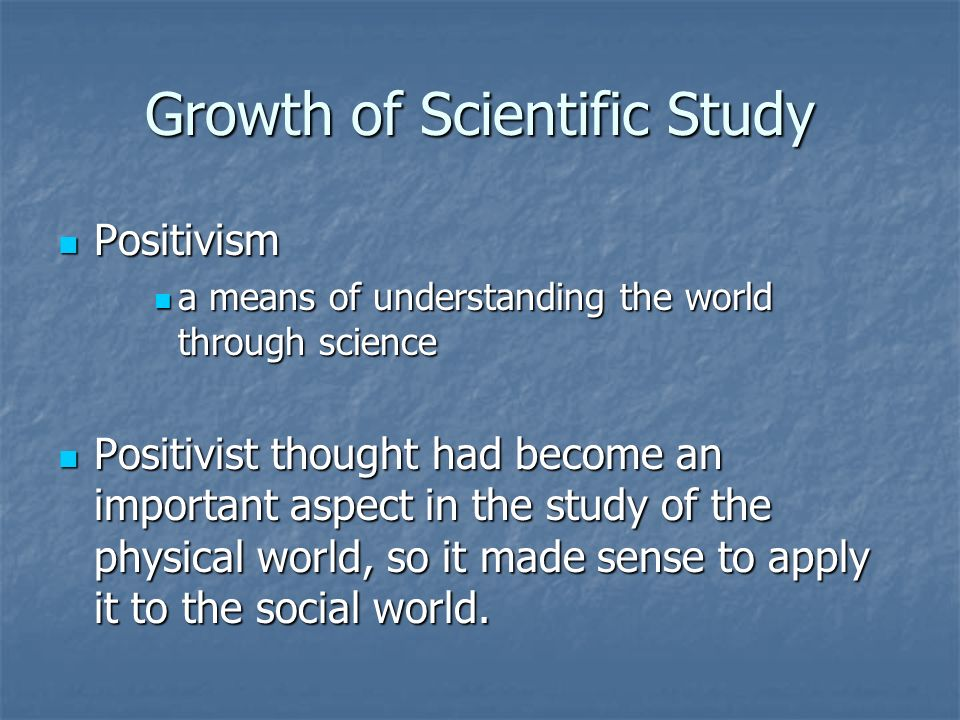 Growth of Scientific Study