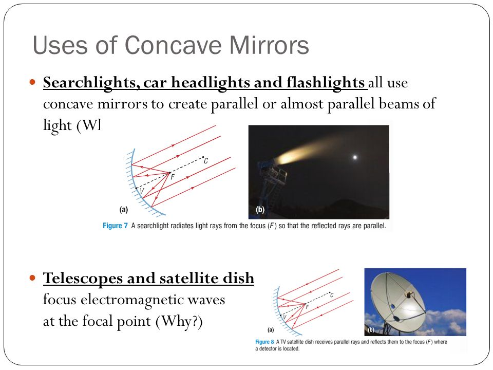 Optics lesson 4 reflection in curved mirrors ppt video for Uses of mirror