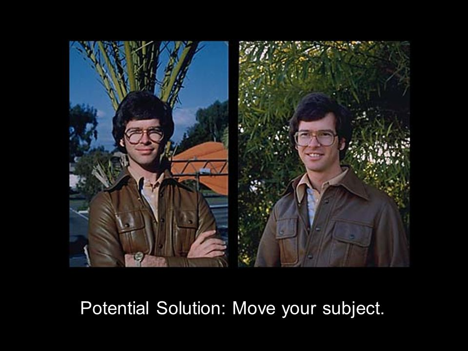 Potential Solution: Move your subject.