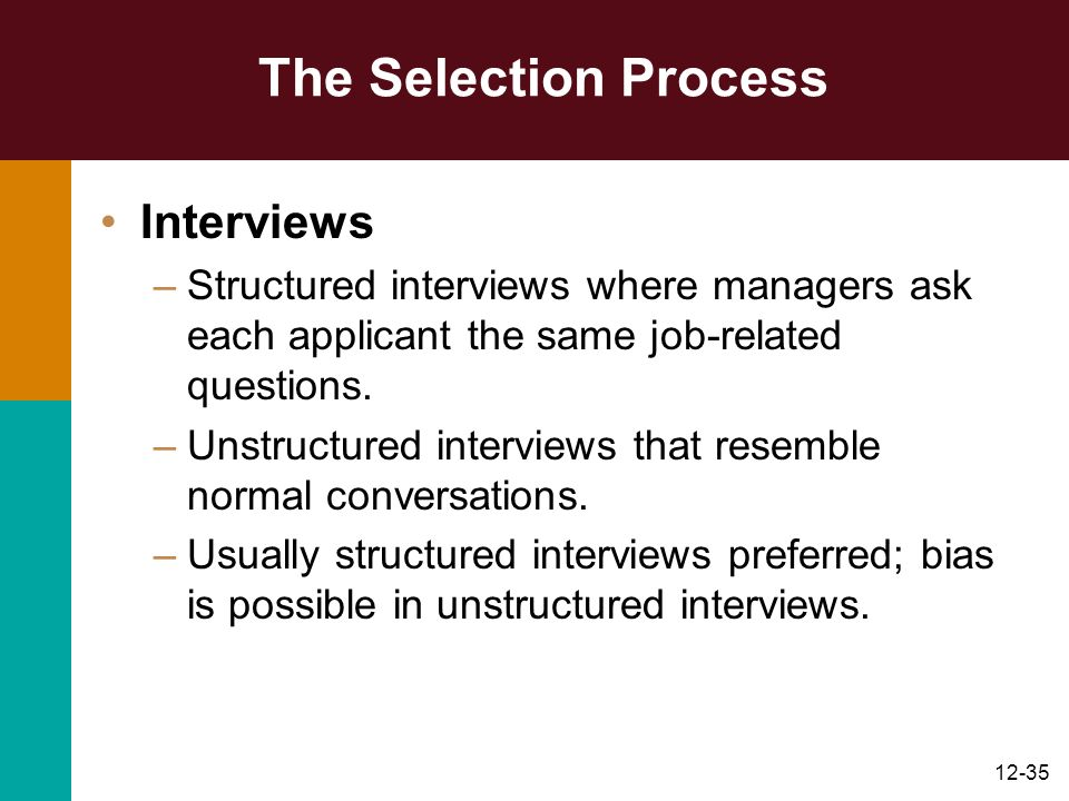 The Selection Process Interviews