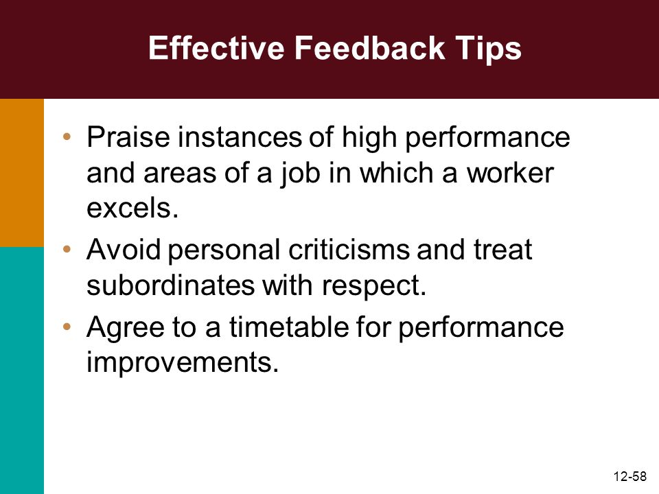 Effective Feedback Tips