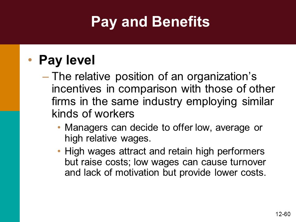 Pay and Benefits Pay level