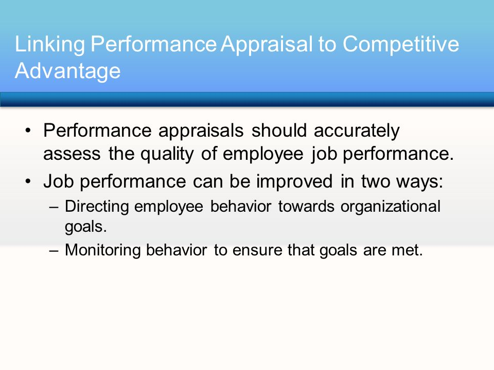 assessing competitive advantages